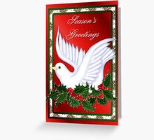 Dove and Holly Greeting Card