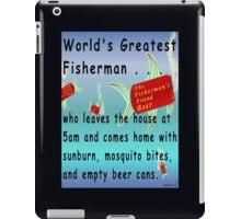 Greatest Fisherman iPad Case/Skin