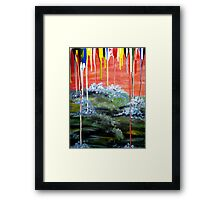 Comet 2012 over ocean Framed Print