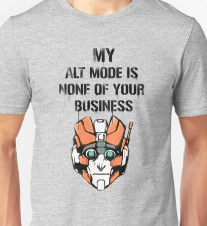 TF - Alt Mode (black) Unisex T-Shirt