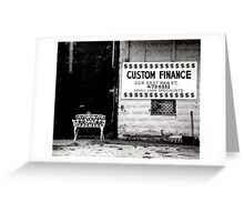 White Bench Greeting Card