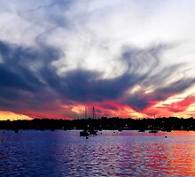 Sunset over the Harbor by Kimberly Sharpe