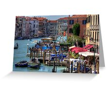 The Busy Grand Canal Greeting Card