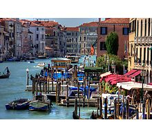 The Busy Grand Canal Photographic Print