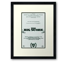 The Big Score - GTA V Framed Print