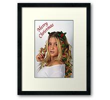 Christmas Curls Framed Print
