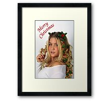 Christmas Curls Framed Print