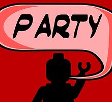 PARTY ON DUDE Invitation  by Customize My Minifig