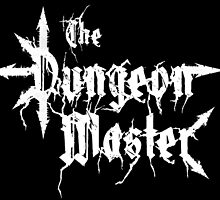 The dungeon master (black metal style) STICKER size by djtenebrae