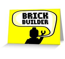 HAPPY BIRTHDAY BRICK BUILDER  Greeting Card