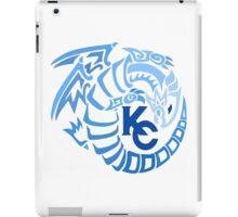 Blue Eyes White Dragon - Gradient Blue iPad Case/Skin