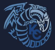 Blue Eyes White Dragon - Gradient Blue Kids Clothes
