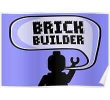 HAPPY BIRTHDAY BRICK BUILDER  Poster