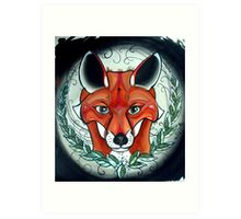 sly fox tattoo art Art Print