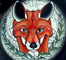 sly fox tattoo art by resonanteye
