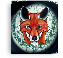 sly fox tattoo art Canvas Print