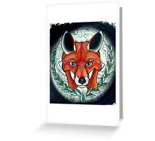 sly fox tattoo art Greeting Card