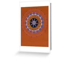 orange eye mandala Greeting Card