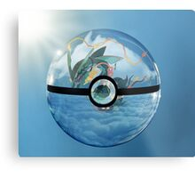 Rayquaza Pokeball Metal Print