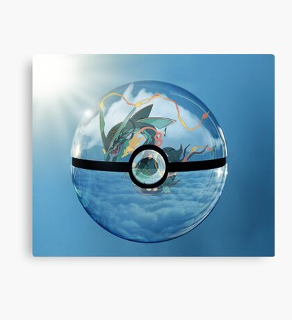Rayquaza Pokeball Canvas Print