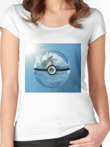 Rayquaza Pokeball Women's Fitted Scoop T-Shirt