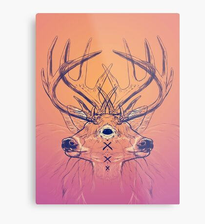 Dutch Deer Metal Print