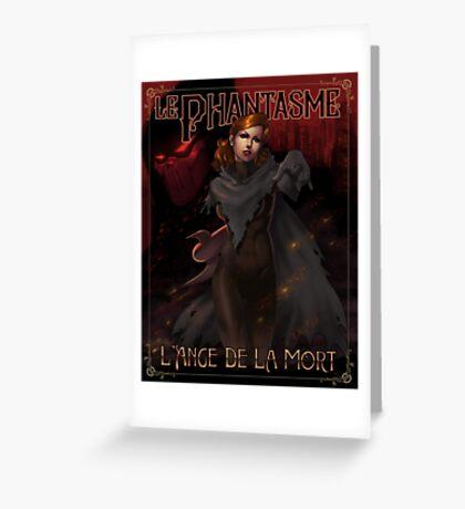 Le Phantasme -- L'Ange de la Mort Greeting Card