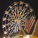 Flag and Ferris Wheel at the Fair  by © Joe  Beasley IPA