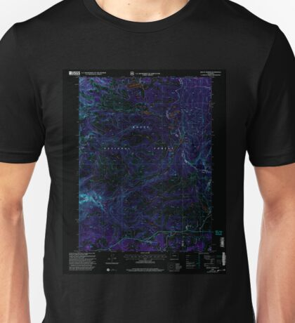 USGS TOPO Map Colorado CO Mount Werner 233900 2000 24000 Inverted Unisex T-Shirt