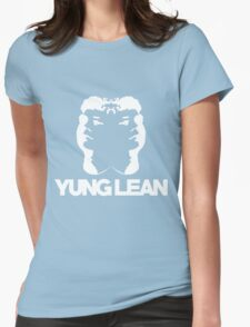 Yung Lean Baby White Womens Fitted T-Shirt