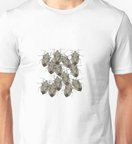 Stink Bugs Galore..Beautifully Bedazzled Bugs Unisex T-Shirt
