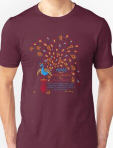 Paisley Peacock Pride and Prejudice: Fall Modern T-Shirt