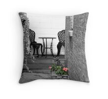 At the end of the alley Throw Pillow