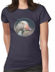Domestic Goose / Pommersche Gans Womens Fitted T-Shirt