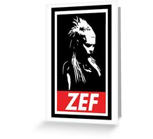 Zef Greeting Card