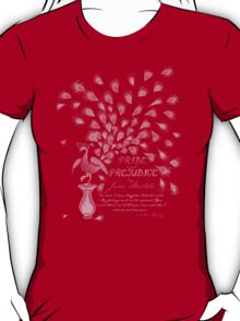Paisley Peacock Pride and Prejudice: Girly T-Shirt