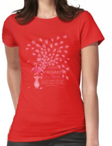 Paisley Peacock Pride and Prejudice: Girly Womens Fitted T-Shirt