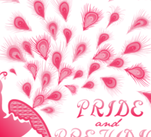 Paisley Peacock Pride and Prejudice: Girly Sticker