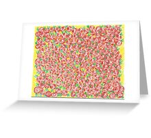 """""""girls rooms"""" - many tiny roses cluster  Greeting Card"""