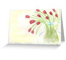 Jonathan James - modern tulips  Greeting Card