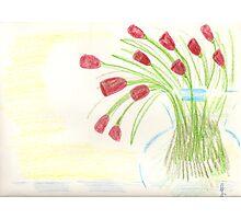 Jonathan James - modern tulips  Photographic Print