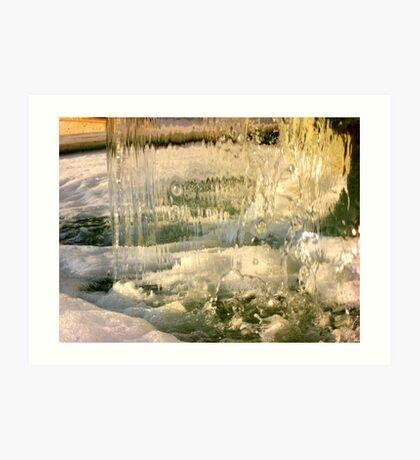 Bubbly Fountain Art Print