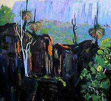 Grass Trees Maroon Dam by Virginia McGowan