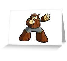 Mega Man 2 Robot Master - Wood Man Greeting Card
