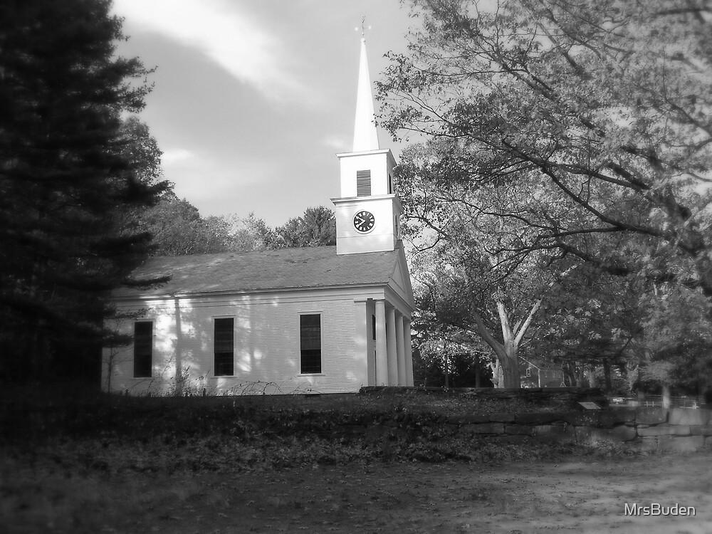 Chapel_Sturbridge Village in black and white by MrsBuden