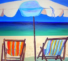 Umbrella Beach  by gillsart