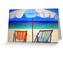 Umbrella Beach  Greeting Card