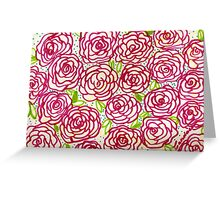american royal roses Greeting Card