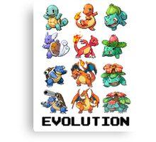 Pokemon Evolution Canvas Print