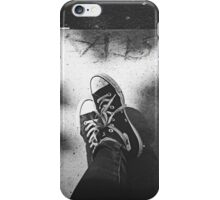 black converse iPhone Case/Skin